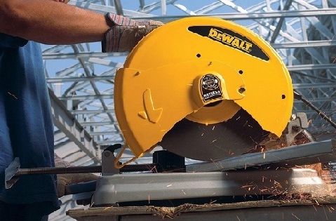 A chop saw is ideal for cutting metal at home or job site