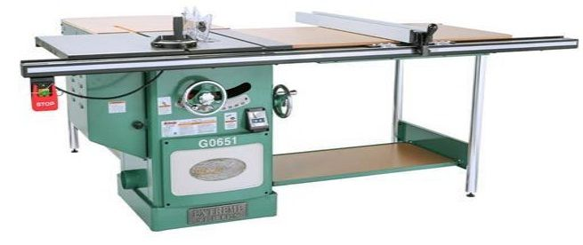 A standard table saw